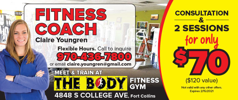 Fitness Coach Claire Youngren, Fort Collin - Training Coupon Deal