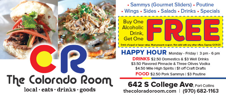 The Colorado Room, Fort Collins - Food, Drinks & Goods Coupon Deals