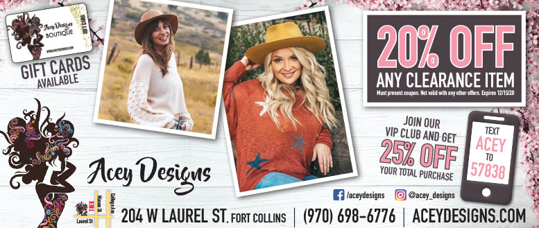 Acey Designs, Fort Collins - Up to 25% Off Coupon Deals