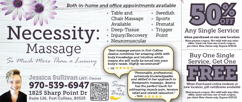 Necessity Massage, Fort Collins - Table, Swedish & Sports Message Coupons Deals