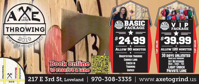 Axe to Grind - Axe Throwing Packages in Loveland, CO