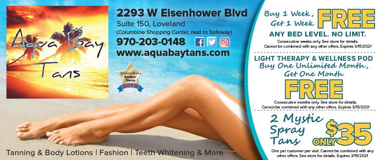 Aqua Bay Tans, Loveland, NoCo coupon deals