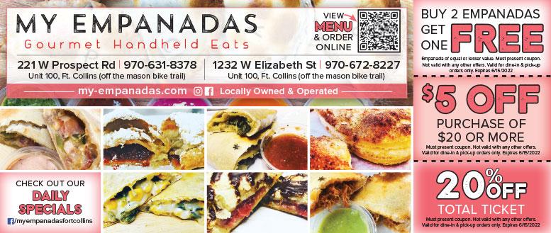 My Empanadas Gourmet Handheld Eats Coupon Deals in Fort Collins NoCo