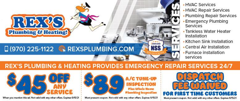 Rex's Plumbing & Heating, Fort Collins, NoCo Coupon Deals