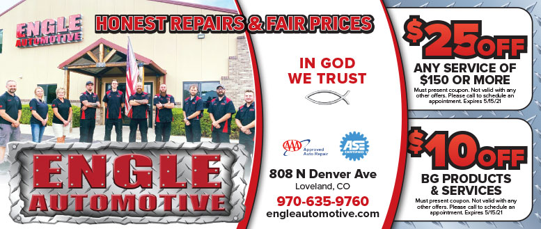 Engle Automotive Repair Service Coupon Deals in Loveland, NoCo