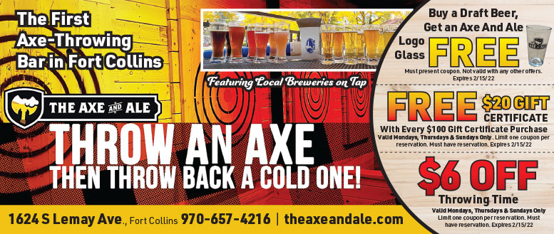 The Axe and Ale - Coupon Deals for Axe Throwing and Bar in Fort Collins, NoCo