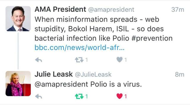 AMA and Polio