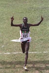 Aquí lo podemos ver en 1998, en su victoria en campo a través en Marrakech