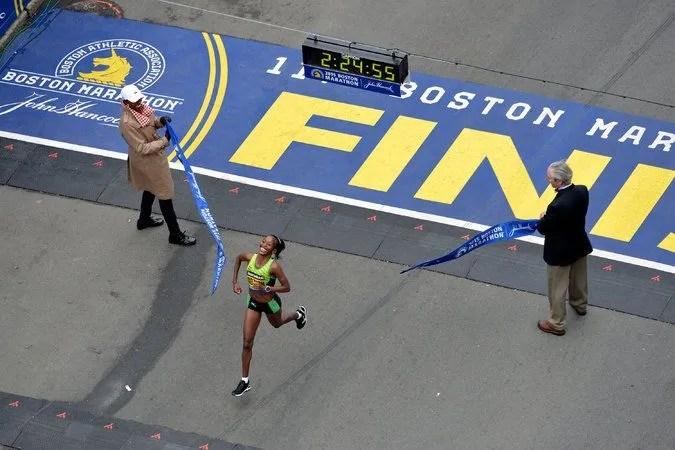 los últimos 195 metros del maraton