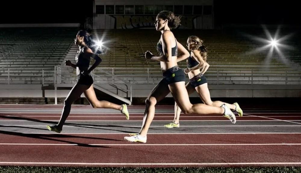 errores en la posición de los brazos al correr