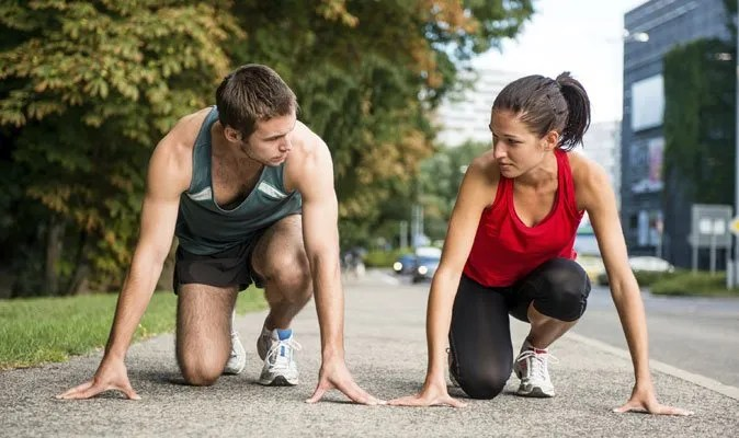 pareja corredora
