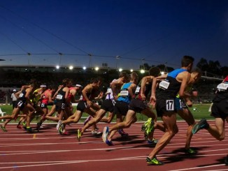 competir en pista de atletismo