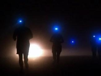 frontal para correr por la noche