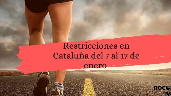restricciones en Cataluña correr