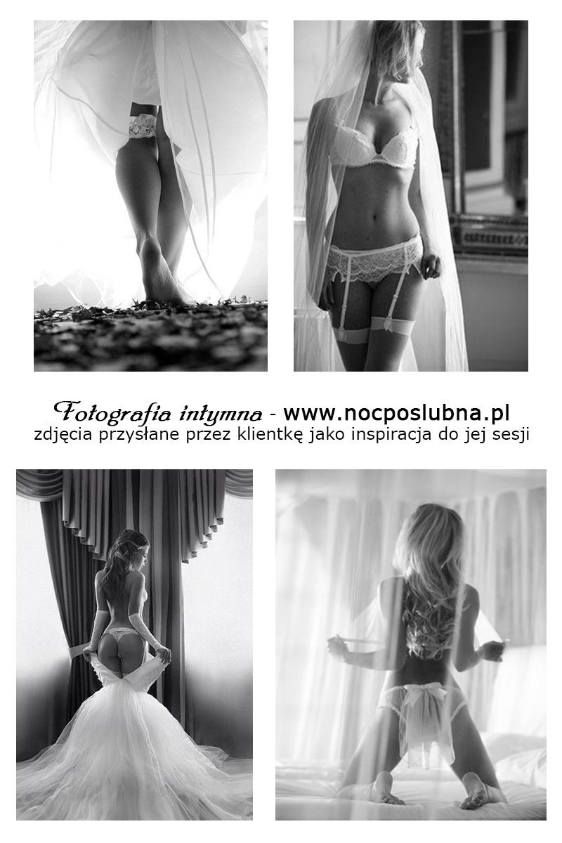 Czarno - białe zdjęcia z nocy poślubnej - fotografie pełne emocji