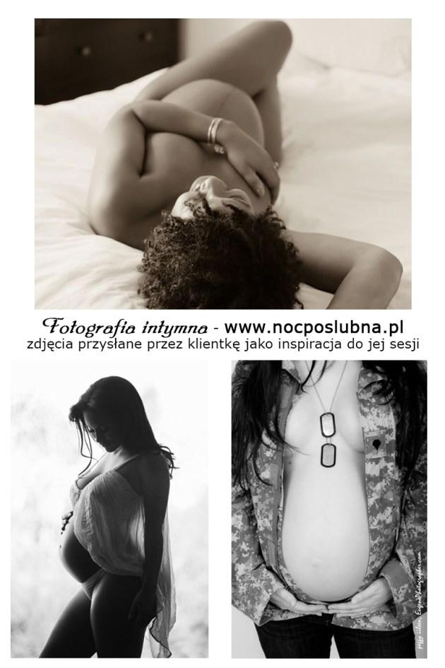 Fotografia ciążowa AKTu - bardziej zmysłowo