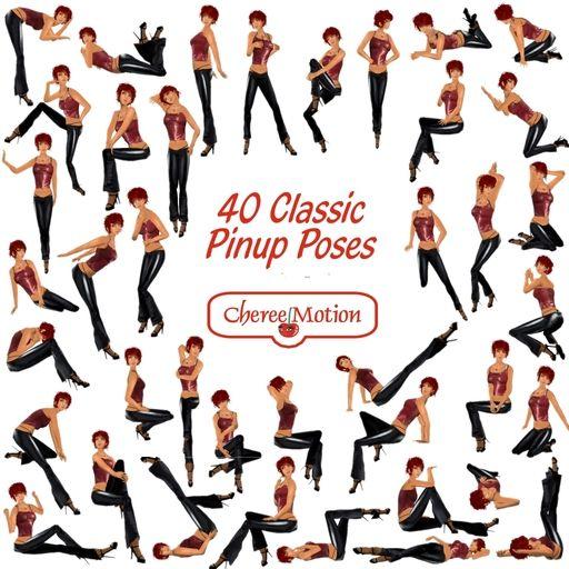 40klasycznych póz Pinup