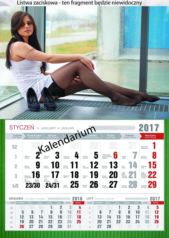 Kalendarz A3 - przykład kalendarza