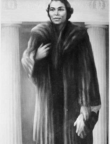 A Portrait of Marian Anderson, painted by Betsy Graves