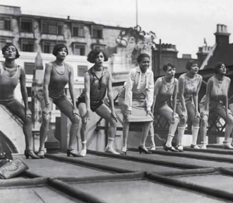 Blackbirds of 1926 Florence Mills and Chorus Rehearse 1926 Roof of London Pavilion