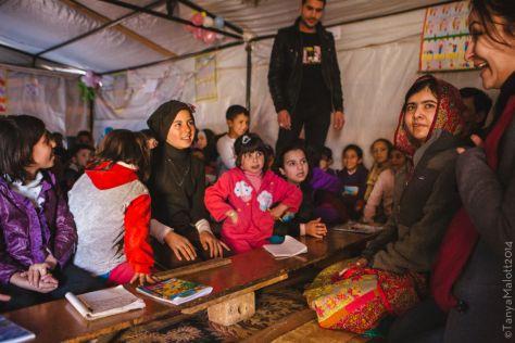 Malala in Jordan. Image: Tanya Malott(2014)