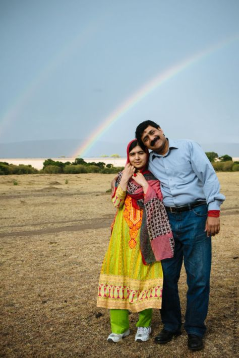Malala pictured with her father,