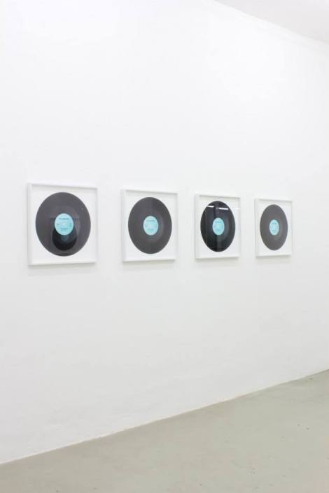Jonathan Monk One Moment With Another, installation view, 2014 Meyer Riegger, Karlsruhe