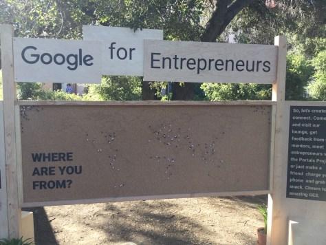 Google For Entrepreneurs Representation Pin Board