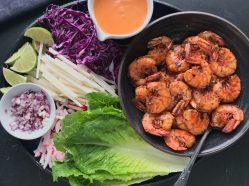 Sizzling Shrimp Lettuce Wraps