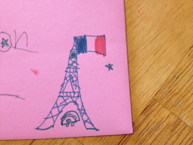 Paris-obsessed doodlings by the 8 year old