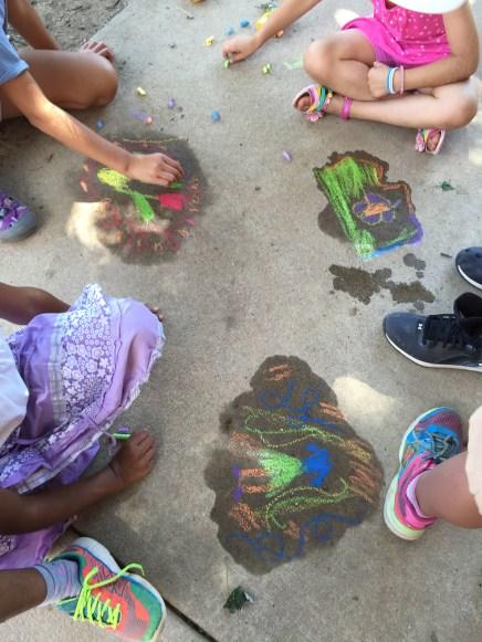 chalk drawing at recess