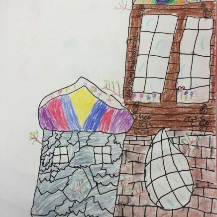 Hundertwasser inspired building