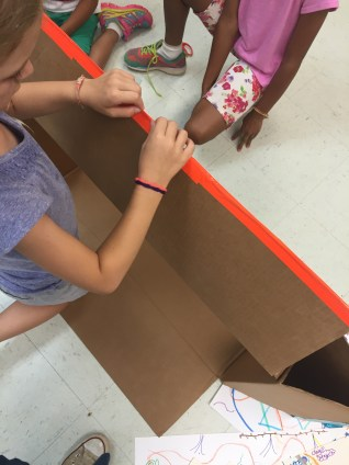 making a puppet theater