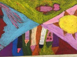 Chagall inspired art