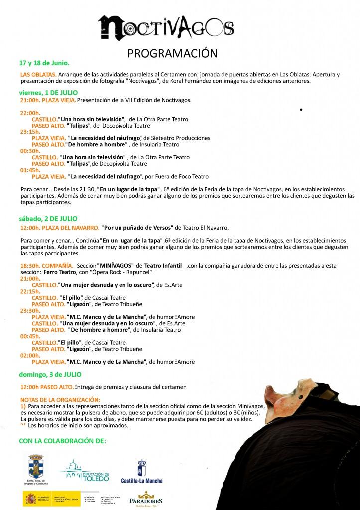 Programa Completo Noctivagos'16