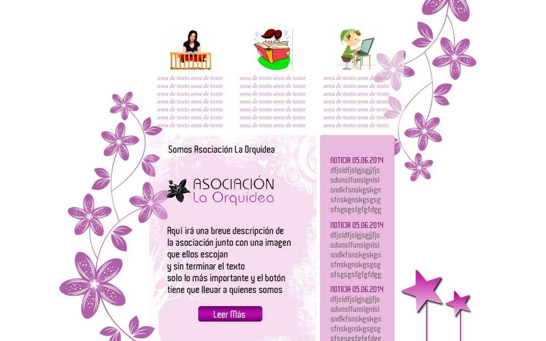 Diseño de Boceto antes de página web para Asociación La Orquídea