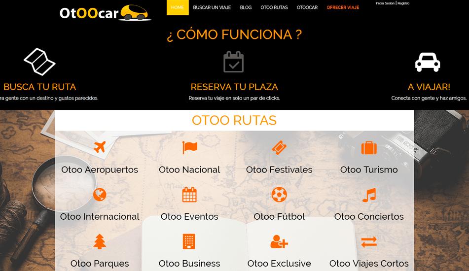 Diseño Creación de bocetos para página web Otoocar