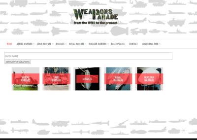 Diseño de Página Web Buscador para enciclopedia de Armas mundiales