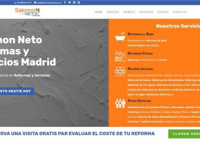 Diseño de página web para empresa de Reformas de Madrid
