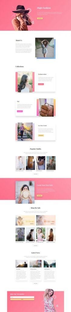 Pagina web para artista o agencia de talentos