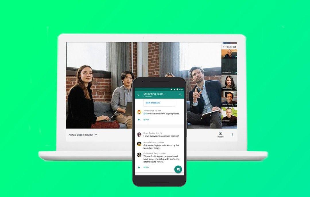 imagen de la plataforma Google Hangouts