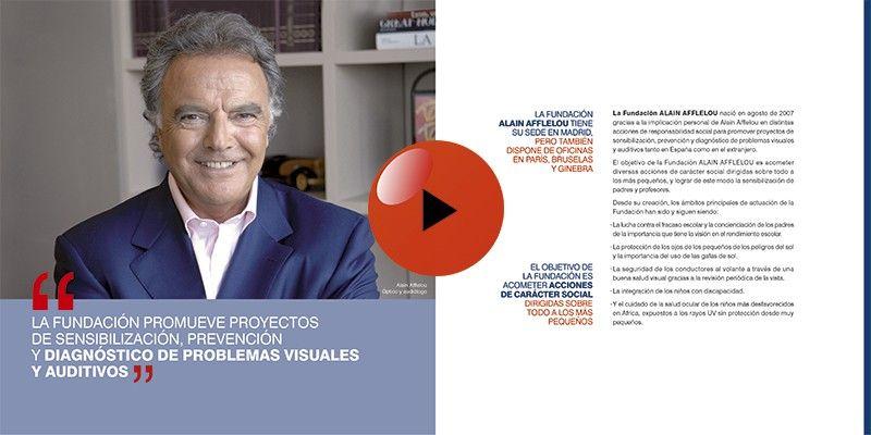 Trabajo para Diálogo Digital presentación animada Fundación Alain Afflelou