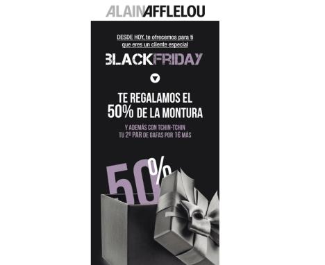 Diseño publicitario Newsletter para campaña Alain Afflelou