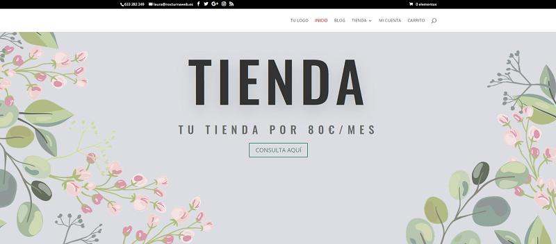 Diseño de tienda online mensual