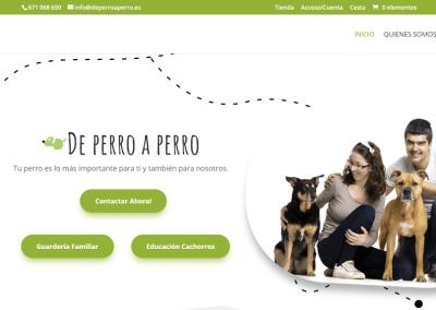 Diseño web para De perro a perro