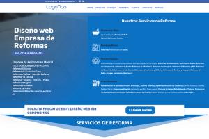Diseño web para empresa de reformas