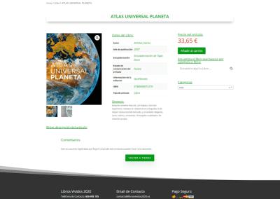 Diseño web tienda de libros