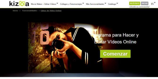 Editor de vídeo Kizoa