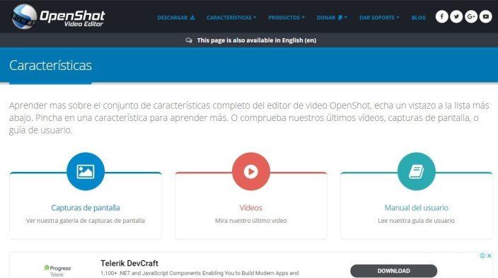 Ediror de vídeo OpenShot