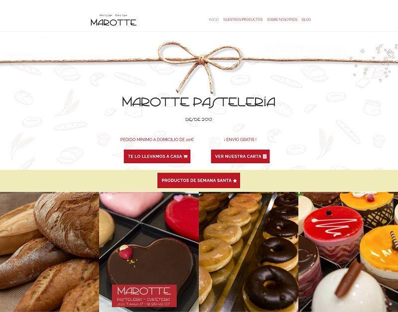 Diseño web para Pastelería Marotte